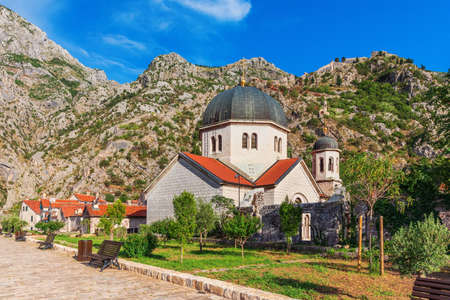 Church of St. Nicholas in Kotor, sunny day, Montenegro.
