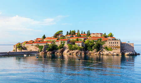 Sveti Stefan island near Budva, Montenegro.