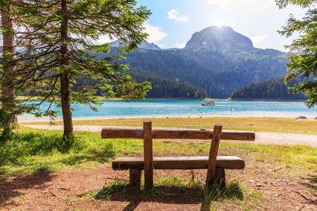A Bench near the Black Lake on Mount Durmitor, Montenegro