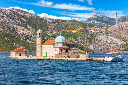 Church of Our Lady of the Rocks in the Bay of Kotor, Adriatic sea, Montenegro.