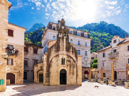 Saint Michael Church in the Old Town, Kotor, Montenegro.