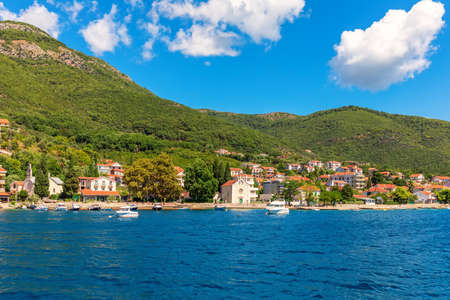 Coast near Kotor in the Adriatiac sea, Montenegro. Stockfoto