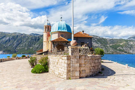 Church of Our Lady of the Rocks in the Adriatic sea, in the Bay of Kotor, Montenegro.