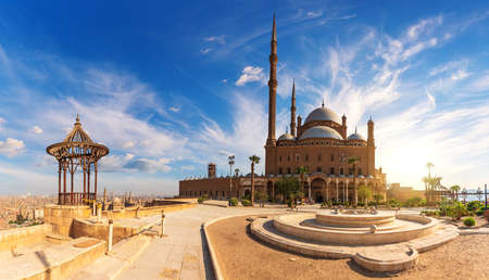 The Great Mosque of Muhammad Ali Pasha or Alabaster Mosque in the Cairo Citadel, Egypt