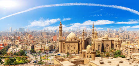 The Mosque-Madrassa of Sultan Hassan in Cairo Egypt