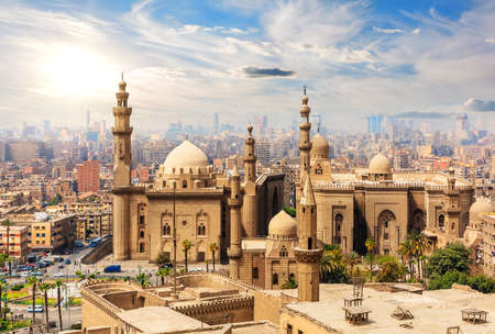 Mosque-Madrassa of Sultan Hassan, view from the Citadel, Cairo, Egypt