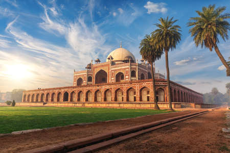 Humayuns Tomb in India, a famous UNESCO object in New Delhi