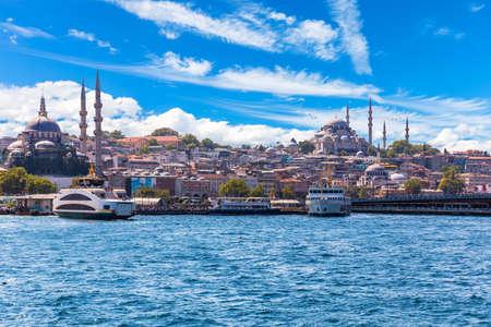 Suleymaniye Mosque and the Rustem Pasha Mosque, Bosphorus, Istanbul.
