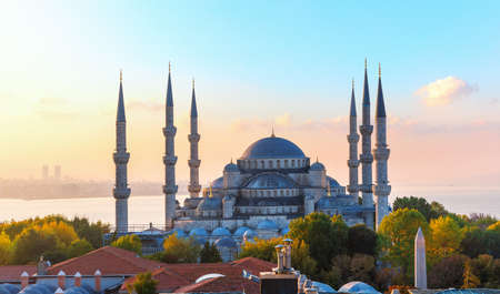 The Blue Mosque, also know as Sultan Ahmet Mosque, Istanbul 免版税图像