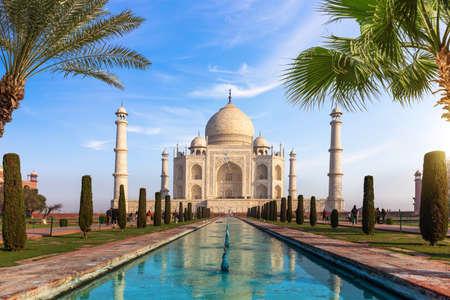 Famous Taj Mahal of India, main view, Agra.