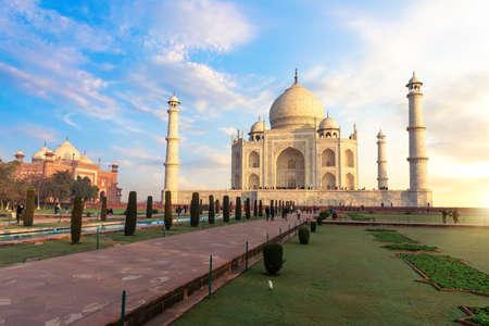 Taj Mahal in India, the main place of visit.