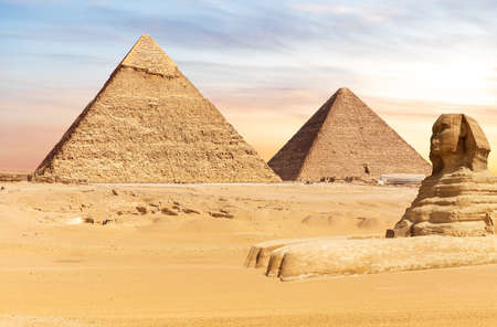 Famous Pyramids of Egypt and the Great Sphinx, Giza