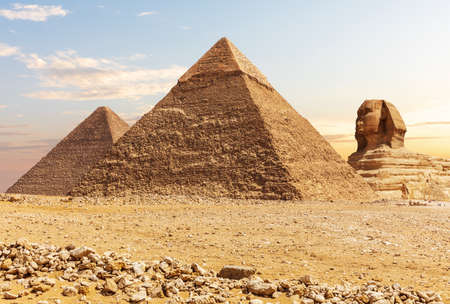 The Great Sphinx and the Pyramids of Egypt, Giza