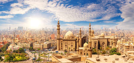 The Mosque of Sultan Hassan, Cairo skyline, Egypt