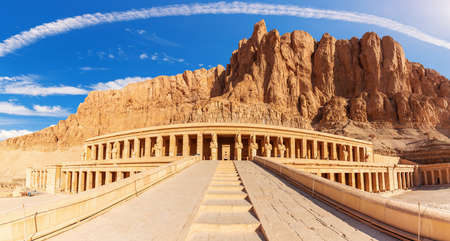 Hatshepsuts Temple and the cliffs, Luxor, Egypt