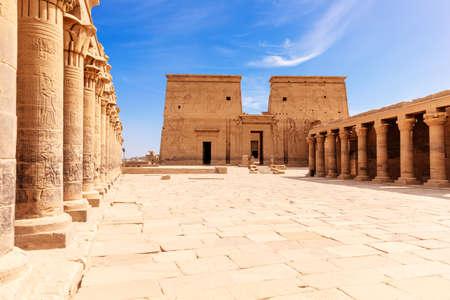Philae Island, the temple of Isis, Aswan, Egypt 免版税图像
