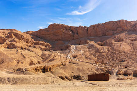 Valley of the Kings, tombs in the rock, Luxor, Egypt.