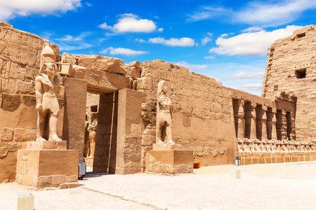 The Great Court of Karnak Temple, Luxor, Egypt.