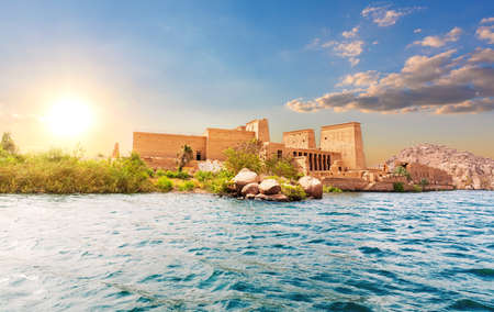 Temple of Isis on the Philae island, Aswan, Egypt