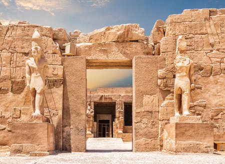 The Great Temple of Amun entrance, Karnak Temple complex, Luxor, Egypt.