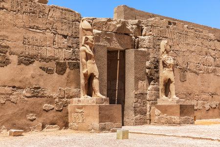 Second pylon of the Karnak temple of Luxor, Egypt