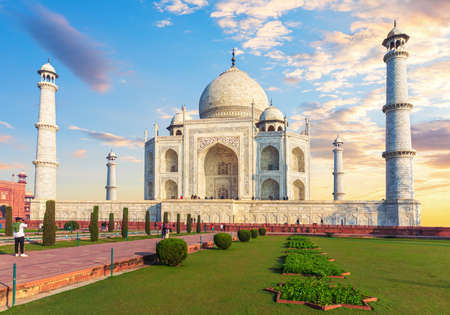 Taj Mahal main facade, beautiful view, Agra, India