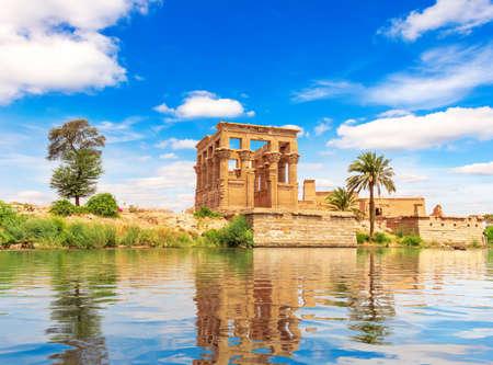 Trajan's Kiosk of the Philae Temple on Agilkia Island by the Nile, Aswan, Egypt.
