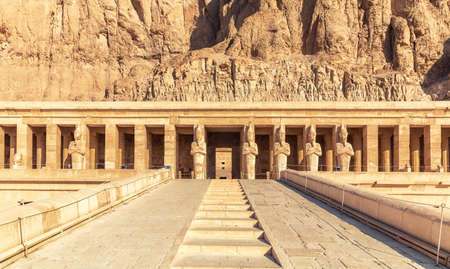 Mortuary Temple of Hatshepsut, the upper terrace, Luxor, Egypt