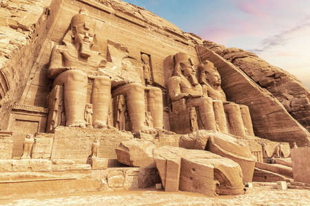 The Great Temple of Ramesses II and the Colossals, Abu Simbel, Egypt