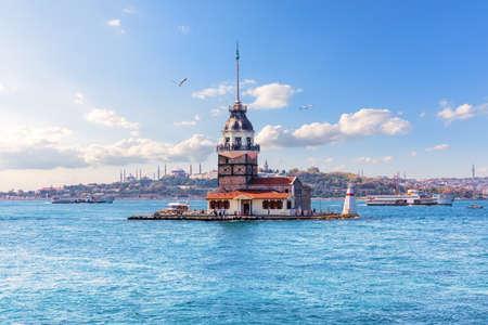 Maidens Tower in the Bosphorus straight, Istanbul, Turkey