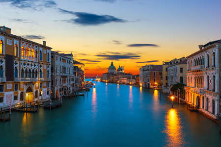 The Grand Canal at sunrise in Venice, Italy 版權商用圖片