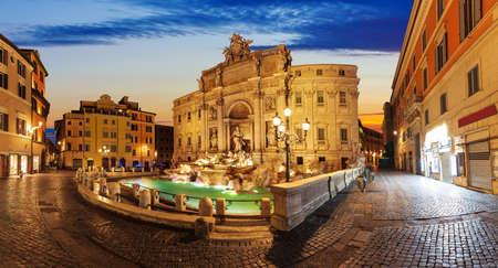Trevi Fountain at sunrise, Rome, no people