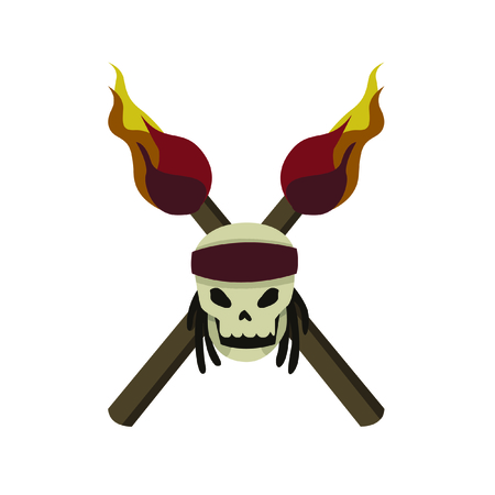 Pirate Skull on White Background