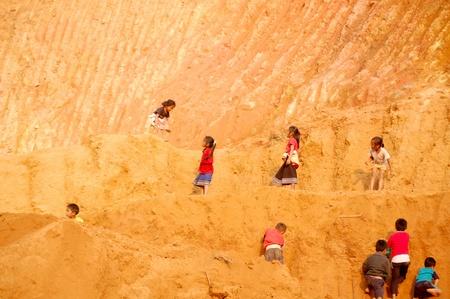 kids on sideway to Luang Prabang Stock Photo - 14277709
