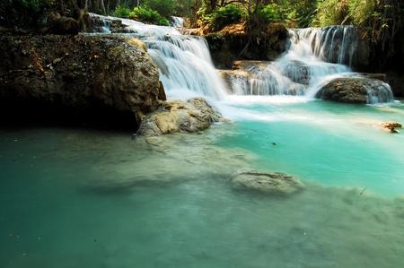 tat: waterfall Tat kuang xi,Laos