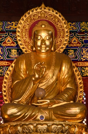 bhudda in chinese temple,Thailand photo