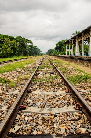 trainstation in south of thailand photo
