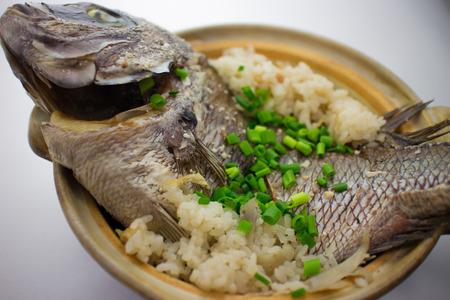 sea bream: Sea bream rice Stock Photo