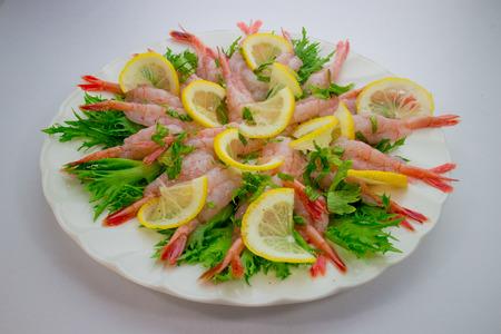 Carpaccio of sweet shrimp