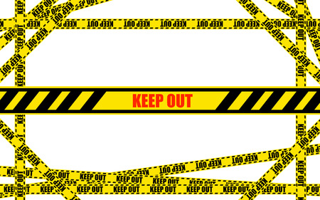 keep out: KEEP OUT tape