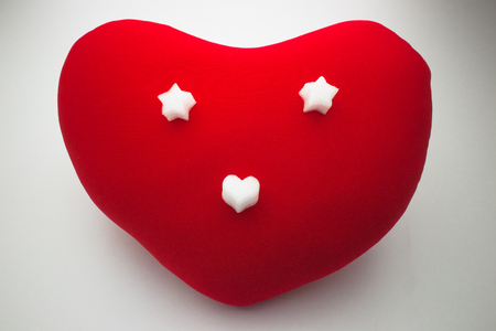 cushioning: Red Heart of smile