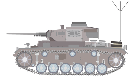 lateral view: Of light tanks illustrations