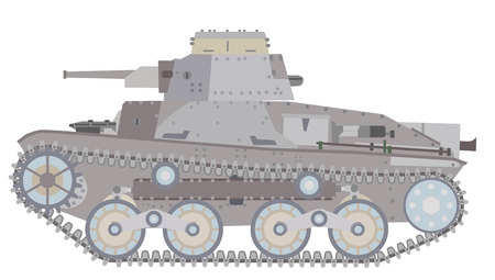 lateral view: Tanks of illustrations