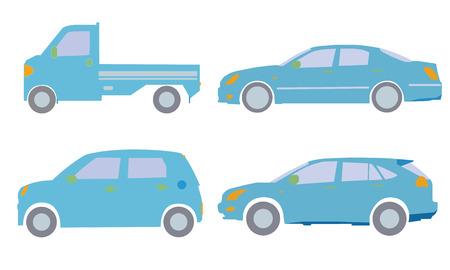 the passenger: Light trucks and passenger cars of illustrations