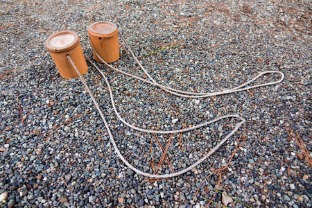 shoe string: Bamboo Pokkuri