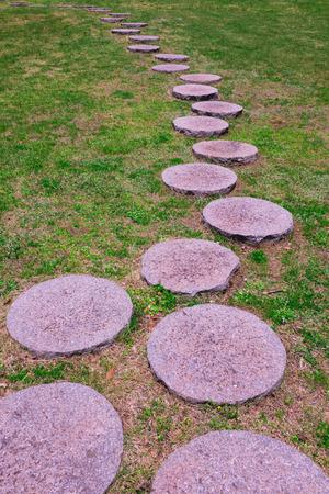 promenade: Promenade round stone