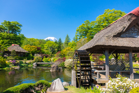 Watermill and a Japanese garden