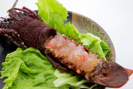 spiny: Spiny lobster Sashimi