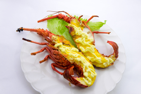 spiny: Mayonnaise grilled spiny lobster