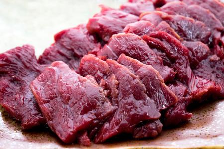horse meat: Basashi: Sashimi Style House Meat